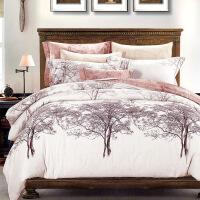 【官方旗舰店】磨毛四件套欧美风双人纯棉阳绒加厚保暖全棉床上被套床单1.8米床