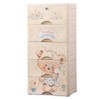 简易家用多层宝宝儿童抽屉式收纳箱玩具整理塑料婴儿衣物储物柜子 32面宽-小考拉 (加厚)