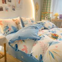 多喜爱春夏新品床上用品全棉纯棉四件套时尚森系清新宿舍床单被套1.2米床