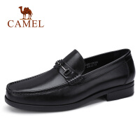 camel骆驼男鞋 秋季新款商务正装皮鞋牛皮套脚皮鞋驾车鞋休闲皮鞋