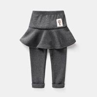 女童裤裙宝宝童装加绒保暖裤子装儿童外穿假两件秋打底裤潮