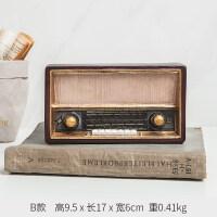 创意复古怀旧小摆件收音机客厅家居欧式装饰品咖啡厅酒柜美式摆设