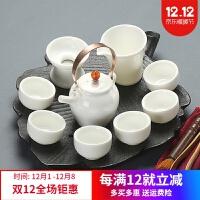 日式整套茶具创意粗陶茶具日式干泡台整套陶瓷功夫茶具套装壶茶家用杯干泡茶具
