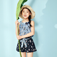 【周年庆3件2折:49】巴拉巴拉旗下 巴帝巴帝潮流童装夏女童时尚淑女套装新款