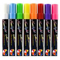 荧光笔6mm POP笔彩色记号笔玻璃板笔发光黑板笔水性笔