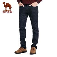 骆驼男装 秋季新款中腰时尚都市商务休闲牛仔裤男拉链长裤子