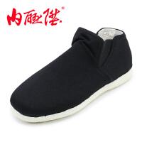 情侣款手工千层底春夏秋千礼矮靴老北京布鞋 8616A