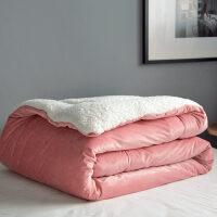 君�e日式天�Z�q�色毛毯冬被加厚保暖�w毯�坞p人羊羔�q被子珊瑚�q毛毯 酒�t 天�Z�q毛毯 200x230cm 5.5斤