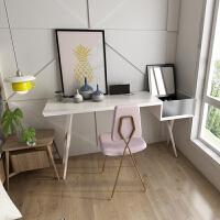 翻盖化妆台北欧家具 书桌卧室女化妆桌实木梳妆桌网红美式梳妆台 组装