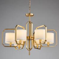 照明新中式吊灯 客厅灯餐厅灯卧室纯铜中国风吊灯简约新中式全铜吊灯