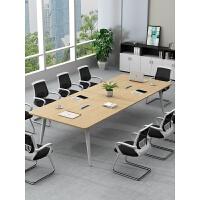 会议桌长桌简约现代办公家具洽谈桌职员培训条形桌会议室桌椅组合
