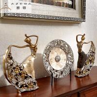 创意欧式客厅装饰品摆件家居饰品 孔雀舞女玄关酒柜电视柜工艺品