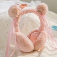 韩版可折叠耳套保暖女秋冬季可爱耳罩仿兔毛保暖耳包男女耳捂耳暖卡通可爱可折叠