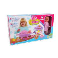 过家家婴儿床吃睡玩洗澡 仿真洋娃娃 女孩生日礼物益智 玩具