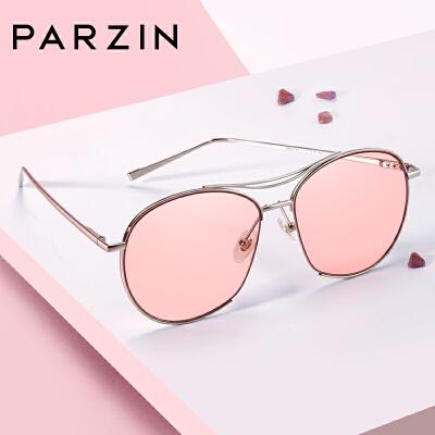 帕森时尚太阳镜女浅色迷幻复古个性半框眼镜潮墨镜驾驶镜新款9768