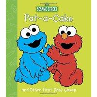 英文原版 芝麻街:拍拍手 游戏书 Pat-a-Cake and Other First Baby Games (Sesa