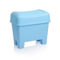 可坐人收纳凳收纳椅坐凳换鞋凳储物凳储物椅玩具收纳箱 110L
