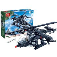 【当当自营】邦宝益智积木儿童小颗粒男孩玩具生日礼物亲子隐形武装直升机8488