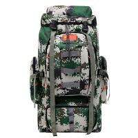 迷彩厂家直销迷彩登山包80L战术军野外露营背囊户外双肩包