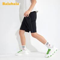 【2件6折价:59.4】巴拉巴拉男童裤子中大童短裤儿童运动裤夏装2020新款童装透气弹力