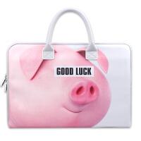 猪猪女孩款手提电脑包macbook苹果air pro13.3寸小新燃7000 猪猪 13寸