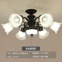 美式客厅吸顶灯家用简约现代温馨圆形卧室灯欧式复古餐厅LED灯具