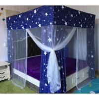 床帘家用落地遮光蚊帐一体式15卧室加厚全封闭18m床不透明床幔