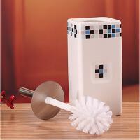 马桶刷马桶座 创意带底座 厕刷套装厕所刷坐便洁厕刷 长方形颜色随机