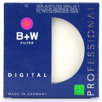 B+W 72mm 渐变灰镜 72 25%渐变灰滤镜 中灰渐变镜 正品行货