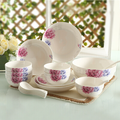 顺祥健康陶瓷20头套装餐具