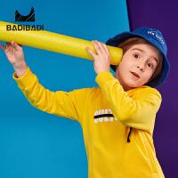 【开学季3件2折:50】巴拉巴拉旗下 巴帝巴帝男童卫衣19春新款潮酷连帽织带中大童