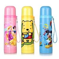 先行 迪士尼保温杯500ML不锈钢真空保温瓶可爱女士杯子小熊维尼儿童水杯 强12小时保温 .