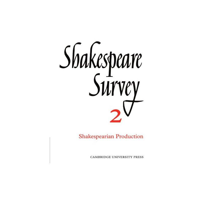 Shakespeare Survey [ISBN: 978-0521523561] 美国发货无法退货,约五到八周到货