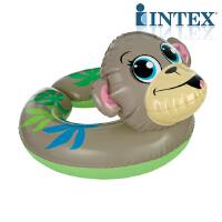 INTEX开口动物浮圈59220 婴儿浮圈充气玩具 游泳圈
