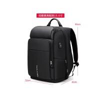 防盗背包男士双肩包商务书包多功能短途旅行背包大容量17寸电脑包