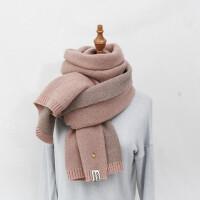 围巾女秋冬季可爱少女韩版小清新针织情侣毛线围脖男女学生少女心围巾