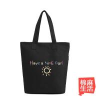 新款韩版潮简约帆布包女包手提包单肩包女士休闲大包包