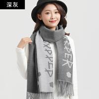围巾女冬季长款韩版围脖加厚保暖男女脖套头时尚百搭披肩两用格子