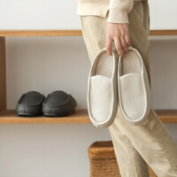 朴西 秋冬棉拖鞋女 防水pu皮室内家居情侣包跟加绒软底皮拖鞋男士