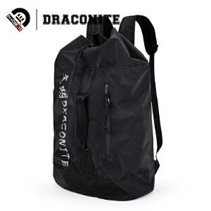 DRACONITE欧美时尚潮字母反光双肩包大容量防水学生背包男