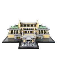 小颗粒积木 mini颗粒建筑模型拼装玩具益智减压14岁以上 帝国饭店