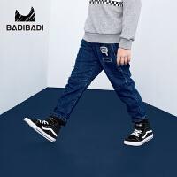 【2件3折:66】巴拉巴拉旗下 巴帝巴帝男童加绒牛仔裤2018冬季新款