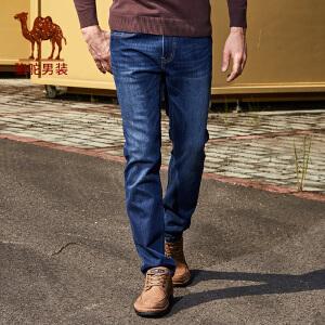 骆驼男装 秋季新款时尚合体直筒中腰牛仔裤日常休闲长裤男