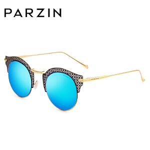 帕森时尚太阳镜 优雅女士镂空金属大框炫彩膜潮人墨镜8109