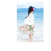 女童沙滩裙夏季新款母女连衣裙海边度假吊带长裙亲子装