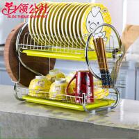 白领公社 碗架 多功能晾洗放碗碟沥水架盘子刀架厨房餐具碗筷收纳架厨房置物架
