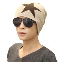 男士冬天秋冬针织帽毛线帽 保暖帽套头帽加绒护耳包头帽