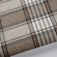 加厚英伦麻布纯色条纹格子棉麻沙发布料坐垫面料抱枕