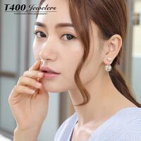 T400耳环韩国气质防过敏耳钉女个性简约 8485