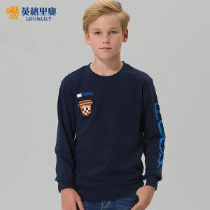 男童圆领长袖卫衣中大儿童套头上衣2017秋装新款休闲运动打底衫